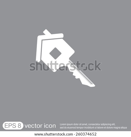 key in the house. real estate icon. home sign. vector icon - stock vector