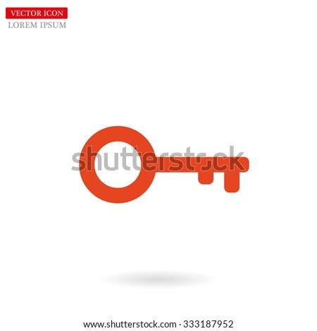 Key line vector icon - stock vector