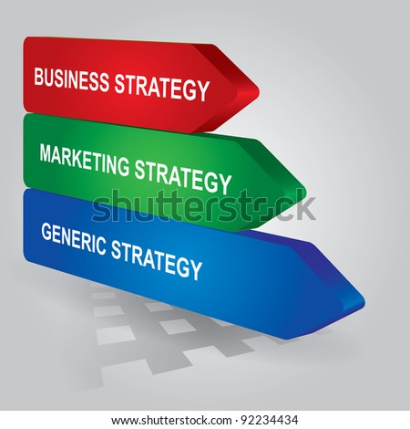 key of strategy - abstract business illustration - stock vector