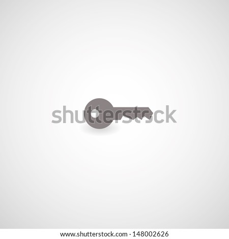 key symbol on gray background - stock vector