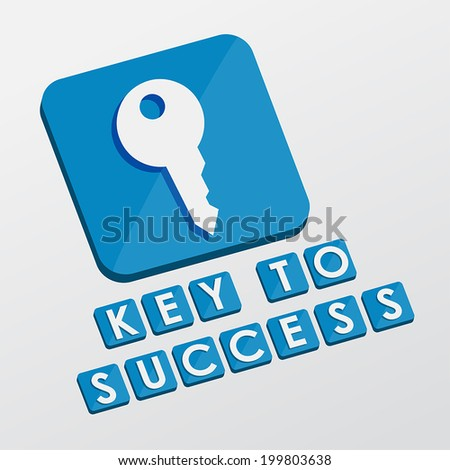 Key Success Key Sign White Text Stock Vector 199803638 Shutterstock