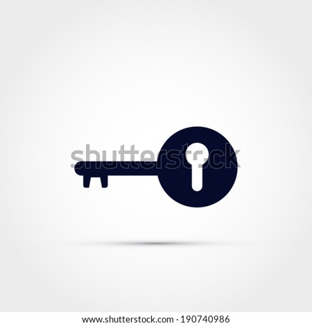 Key with keyhole icon - stock vector