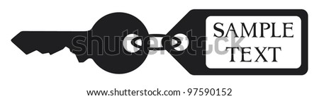 key with tag - stock vector