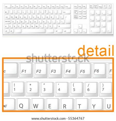 keyboard - stock vector