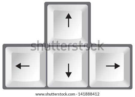Keyboard Arrows - stock vector