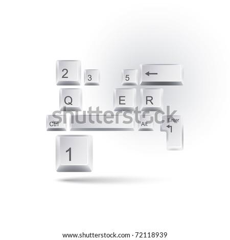 keyboard concept - stock vector
