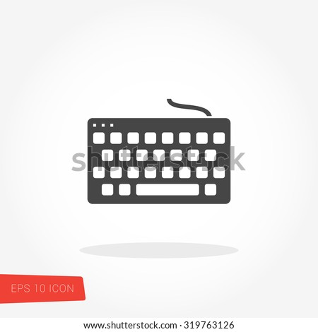 Keyboard Icon / Keyboard Icon Vector / Keyboard Icon Picture / Keyboard Icon Graphic / Keyboard Icon Art / Keyboard Icon JPG / Keyboard Icon JPEG / Keyboard Icon EPS / Keyboard Icon AI - stock vector