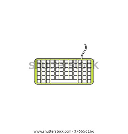 Keyboard simple flat icon - stock vector