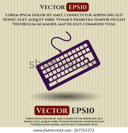 Keyboard vector icon - stock vector