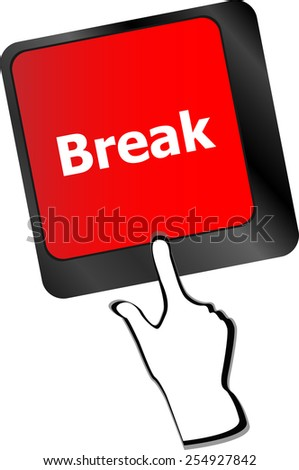 Keyboard with break button, business concept - stock vector