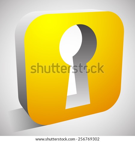 Keyhole Icon for Privacy, Access, Security concepts. - stock vector