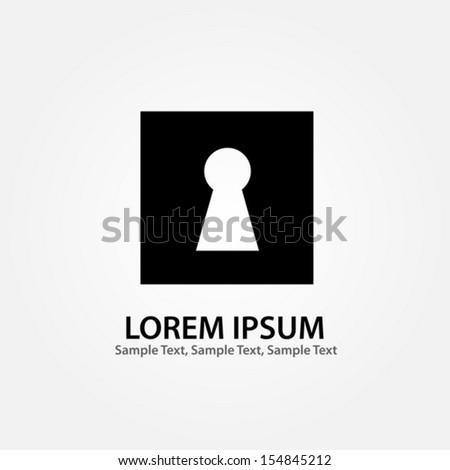 Keyhole Icon. Vector EPS 10 illustration. - stock vector