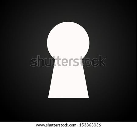 keyhole silhouette,  vector illustration background  - stock vector