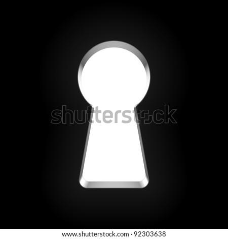keyhole vector stock vector 92303638 shutterstock rh shutterstock com keyhole vector illustration keyhole vector images