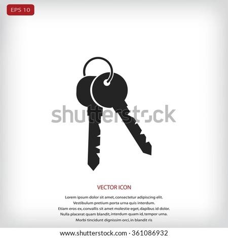 Keys Icon - stock vector