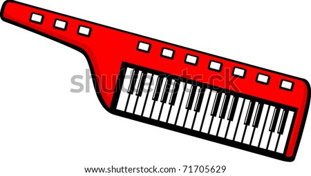 keytar musical keyboard - stock vector