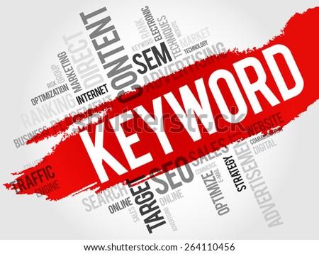 KEYWORD word cloud, business concept - stock vector