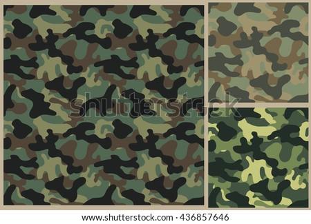 khaki pattern, camouflage texture, military background, khaki texture, khaki background - stock vector