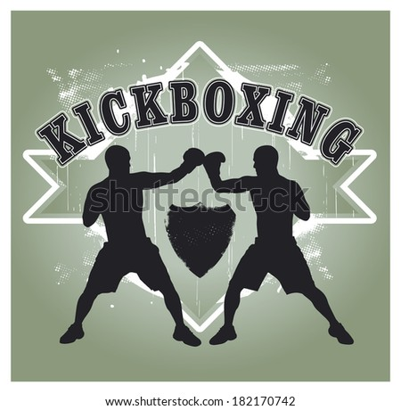 kickboxing shield - stock vector