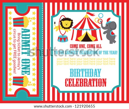Kid birthday invitation card design vector stock vector 121920655 kid birthday invitation card design vector stock vector 121920655 shutterstock stopboris Images