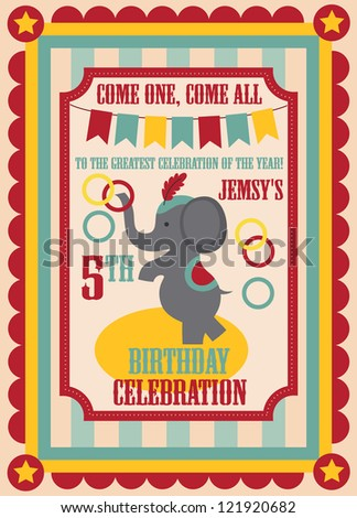 Kid birthday invitation card design vector stock vector 121920682 kid birthday invitation card design vector illustration stopboris Images