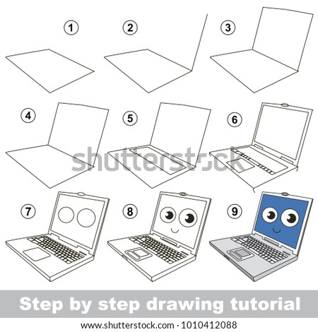 Kid Game Develop Drawing Skill Easy Stock Vector 1010412088 ...