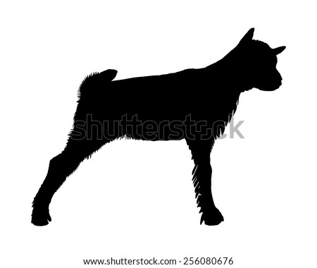 Kid goat silhouette - stock vector