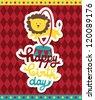 kid happy birthday card design. vector illustration - stock vector