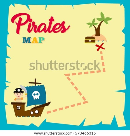 Kid pirate costume poster birthday party stock vector 2018 kid in pirate costume poster birthday and party invitation card in pirate theme concept stopboris Image collections