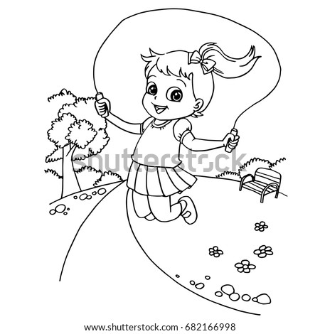 Cheerleader Coloring Sheet Jump Rope