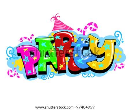 Kid Party Vector Invitation - stock vector