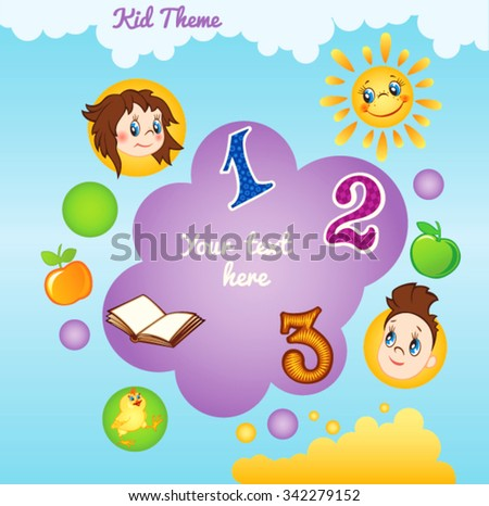 Kid template with circles - stock vector