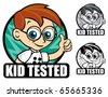 Kid Tested Scientist Seal / Mark / Icon - stock vector