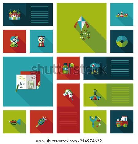 kid toys flat ui background,eps10 - stock vector