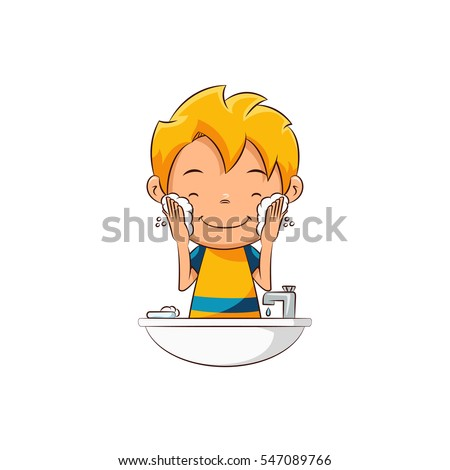 Boy Washing Face Stock Images, Royalty-Free Images ...