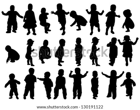 Kids - stock vector