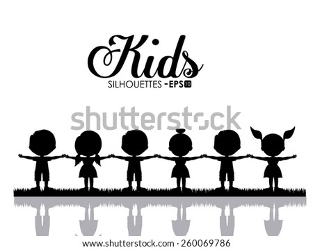 Kids and Children design, vector illustration - stock vector