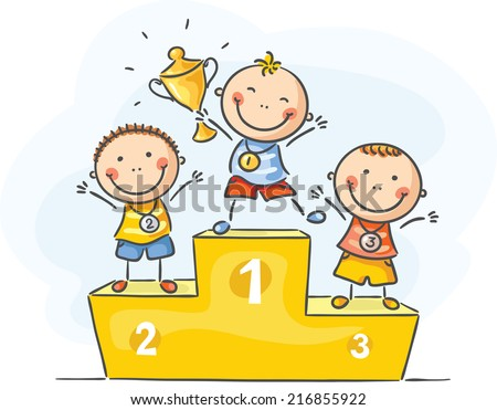 Kids and sport - little champions - stock vector