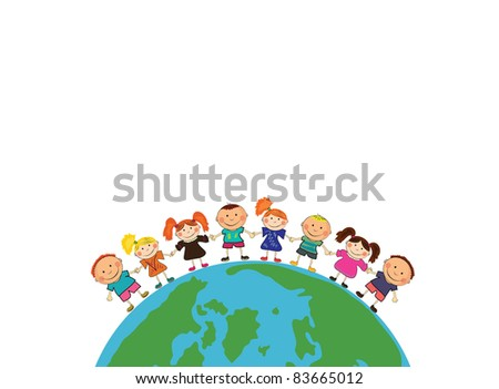 kids around the world. - stock vector