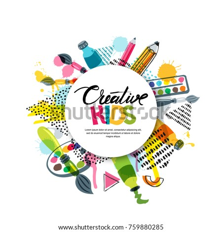 Kids art craft education creativity class for Arts and crafts logo