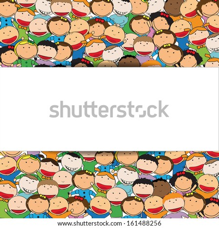 Kids background and banner - stock vector
