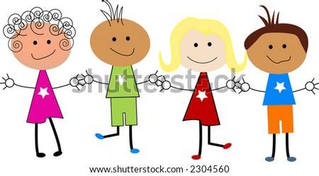 kids cartoon - stock vector
