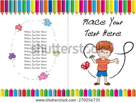 Kids Coloring Book Cover Design Stock Vector (Royalty Free ...