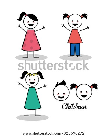 Kids concept with childrens design, vector illustration 10 eps graphic.