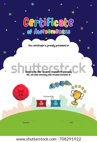 Kindergarten Diploma Stock Images, Royalty-Free Images & Vectors ...