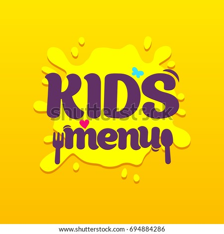 Winer sign congratulations win banner flat stock vector 554696746 kids food cafe special menu for children colorful promo sign template with text pronofoot35fo Images