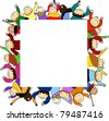 Kids frame - stock vector
