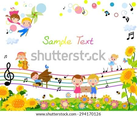 Kids frame - stock vector