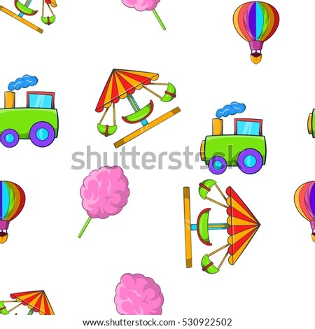 Kids games pattern. Cartoon illustration of kids games vector pattern for web