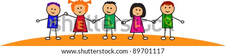 kids illustration - stock vector